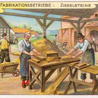 3 Aecht-Franck Serie-Fabrikationsbetrieb Ziegelsteine