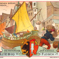 Liebig s-Fleisch-Extract-Karten An-der-deutschen-Bruecke-zu-Bergen neu