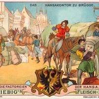 Liebig s-Fleisch-Extract-Karten Das-Hansakontor-zu-Bruegge neu