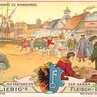 Liebig s-Fleisch-Extract-Karten Im-Petershofe-zu-Nowgorod neu