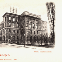 München, Städtische Handelsschule, Herrnstraße, 1898