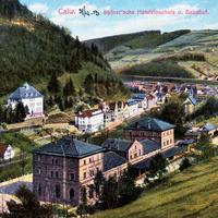 Calw Spörersche Handelsschule und Bahnhof, 1913