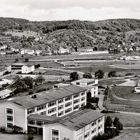Lörrach Handelsschule mit Blick auf L.-Tumringen und Rötteln, ohne Datum