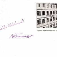 Augsburg, Allgemeine Handelslehranstalt von Gustav Hoffmann, 1909