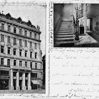 Wien, Pazelt'sche Handelsschule, Judenplatz, 1912