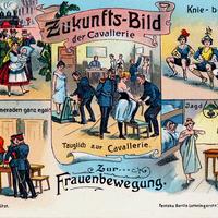 Frauenbewegung Zukunfts-Bild-der-Cavallerie Stempeldatum-1906