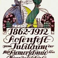 München, Städtische Riemerschmidsche Handelsschule, 1862 - 1912 Rosenfest zum Jubiläum