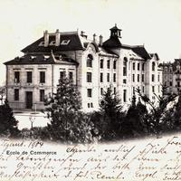 Neuchatel, Ecole de commerce (Stempeldatum 1904)