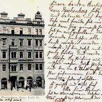 Prag, Handelsschule Wertheimer, Poric 25 (Poststempel 1901)