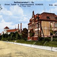 Seifhennersdorf i.Sa., Web- und Handelsschule und Cigarettenfabrik Yenidze (Inh. Hugo Zeitz)