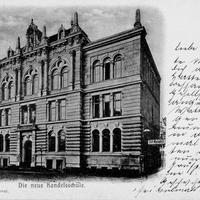 Hannover  Die neue  höhere  Handelsschule  Poststempel 1901