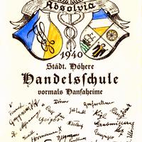 München  Städtische Höhere Handelsschule vormals Hansaheime  Absolvia 1940