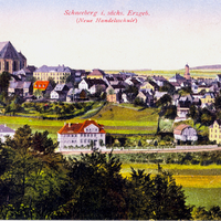 Schneeberg i. sächs. Erzgebirge Neue Handelsschule