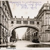 Berlin, Deutsche-Bank,-Schwibbogen, Poststempel-1921