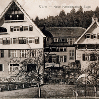 Calw, Neue Handelsschule Zügel (Frontansicht), 1909