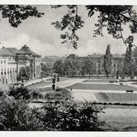 Gotha, Orangerie mit Blick auf Wirtschaftsschule