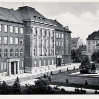 Pilsen, Handelsakademie (Poststempel 1941)