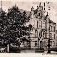Bielefeld,-Städtische-Handelsfachschule,-Poststempel-1938
