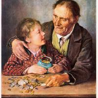 Sparkasse,-Werbung-Beharrlichkeit-im-Sparen...Gemälde-von-Prof.-K.-A