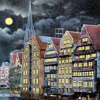 Fleet-Deichstraße,-Gemälde, 1915