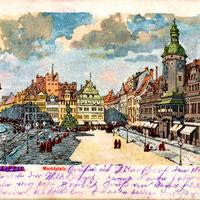 Leipzig,-Marktplatz, 1901