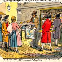 Leipziger-Messe-vor-hundert-Jahren,-Die-Buchhändler