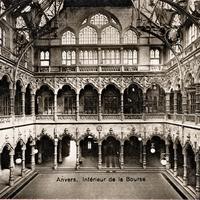 Antwerpen -Inneres-der-Börse 1916