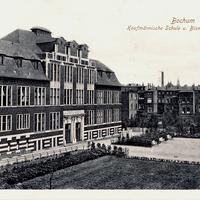 Bochum -Kaufmännische-Schule -Poststempel-1914
