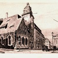 Berlin -Handels-Hochschule-mit-der-früheren-Heiligengeistkirche -Poststempel-1926