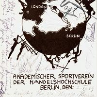 Berlin -Handelshochschule -Akademischer-Sportverein -Poststempel-1909