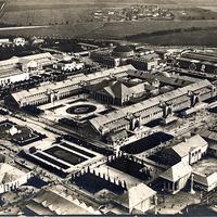 Leipzig -Weltausstellung-für-Buchgewerbe-und-Graphik -Leipzig-1914 -Aufnahme-aus-dem-Luftschiff-Sachsen -