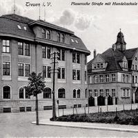 Treuen i. V., Handelsschule in der Plauenschen Straße