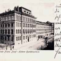 Brünn,-Kaiser-Franz-Josef---Höhere-Handelsschule,-Poststempel-1907