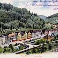 Calw -Neue-Brücke-mit-Handelsschule -Poststempel-1928