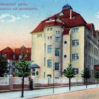 Gotha,-Städtische-Realschule-und-Handelsschule,-Poststempel-1916