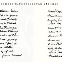 München, Riemerschmid Handelsschule, Absolvia 1940, Klasse 3 D