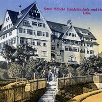 Calw -Neue-Höhere-Handelsschule-und-Handelsakademie -Poststempel-1919