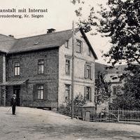 Freudenberg- Kreis-Siegen  -Handelslehranstalt-mit-Internat -Poststempel-1907