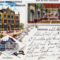 Hannover -Städtische-höhere-Handelsschule -Poststempel-1899