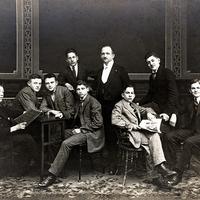 Zschopau -Handelsschule -Klassenfoto-Abgänger-1924