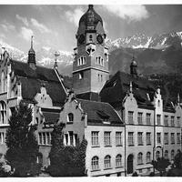Innsbruck -Handelsakademie -Poststempel-1924