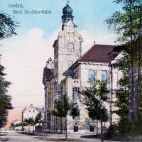 Landau -Neue-Handelsschule -Poststempel-1908
