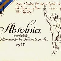 München -Städtische-Riemerschmid-Handelsschule -Absolvia-1935