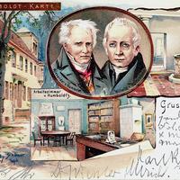 Berlin Alexander-und-Wilhelm-von-Humboldt,-Poststempel-1903