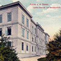 Krems a. d. Donau, Landes-Oberreal- und Handelsschule, Poststempel 1917