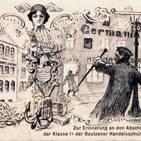 Bautzen -Handelsschule -Abschiedskommers-Klasse-1b-Ostern-1909