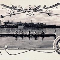 Berlin -Handelsschule -Ruderverein -Poststempel-1910