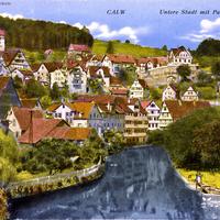 Calw -Neue-Handelsschule-und-Untere-Stadt-mit-Panoramastraße