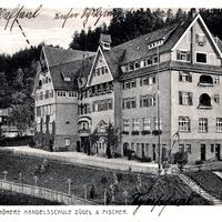 Calw, Neue Höhere Handelsschule Zügel und Fischer, Poststempel 1916