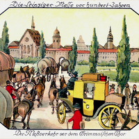 Leipzig, Die Leipziger Messe vor hundert Jahren, Der Meßverkehr vor dem Grimmaischen Tor